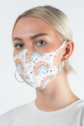 Belle Love Italy Rainbows + Hearts Face Mask