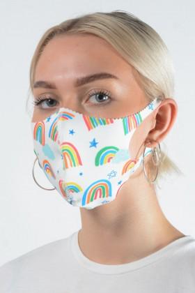 Belle Love Italy Rainbow + Star Face Mask