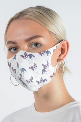 Belle Love Italy French Bulldog Face Mask