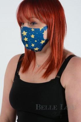 Belle Love Italy Mustard Star Face Mask