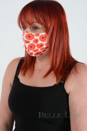 Belle Love Italy Poppy Face Mask