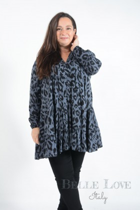 Belle Love Italy Sadie Animal Print Smock Dress