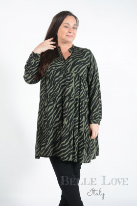Belle Love Italy Sadie Zebra Print Smock Dress