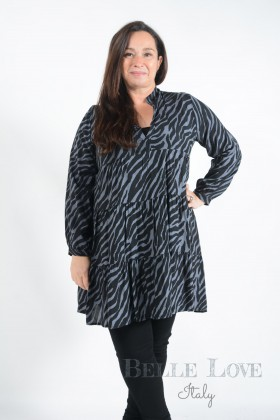 Belle Love Italy Sadie Zebra Print Smoke Dress