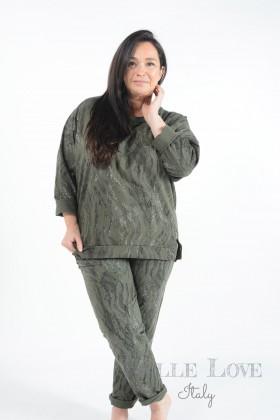 Belle Love Italy Cora Snake Print Loungewear Set
