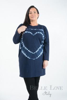 Belle Love Italy Phoebe Tie-Dye Heart Tunic