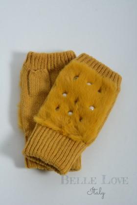 Belle Love Italy Sadie Fingerless Diamante And Pearl Gloves