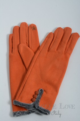 Belle Love Italy Ellie Faux Suede Button Gloves