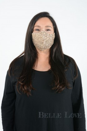 Belle Love Italy Sparkly Sequin Face Mask